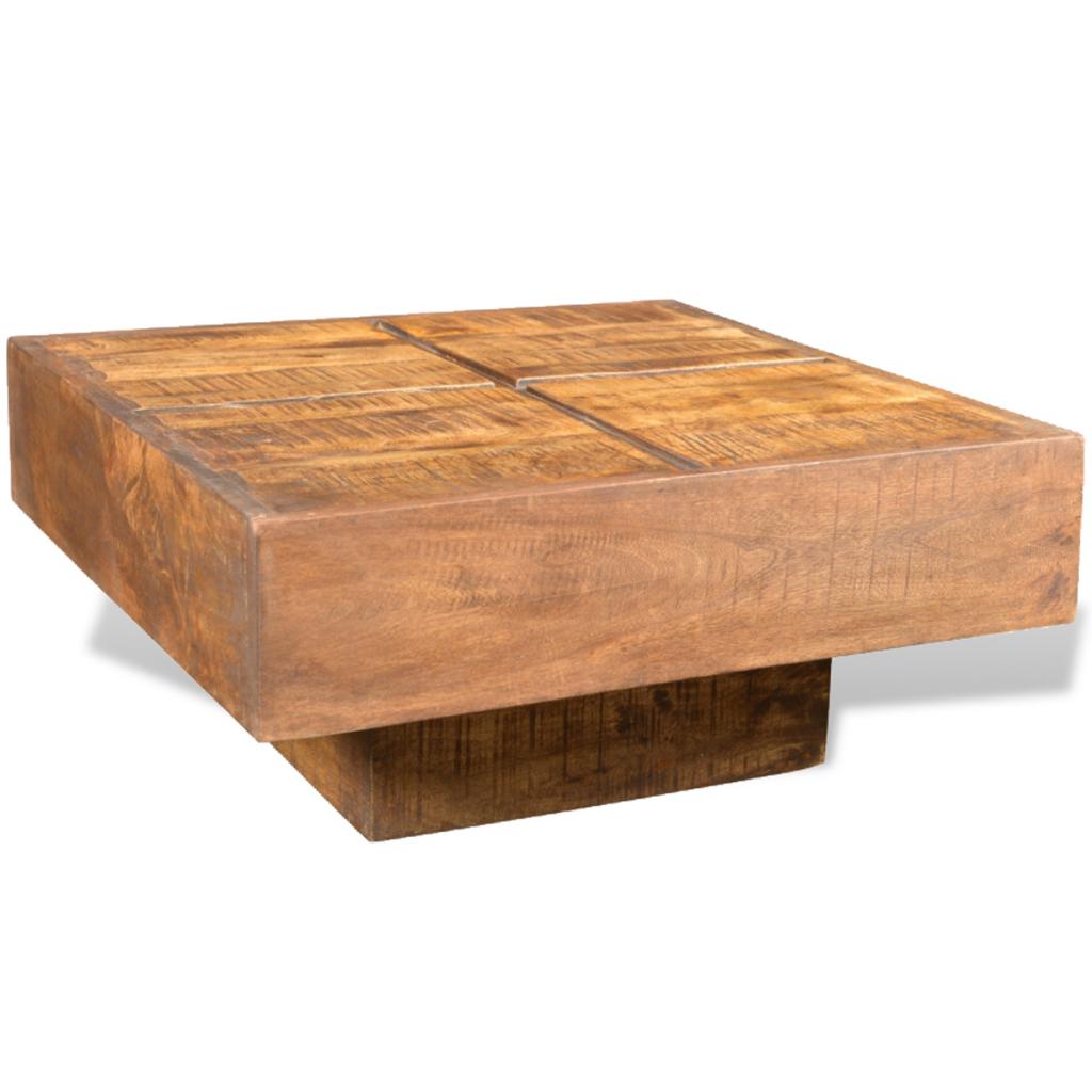 Konferenční Stolek Cube Hnědý
