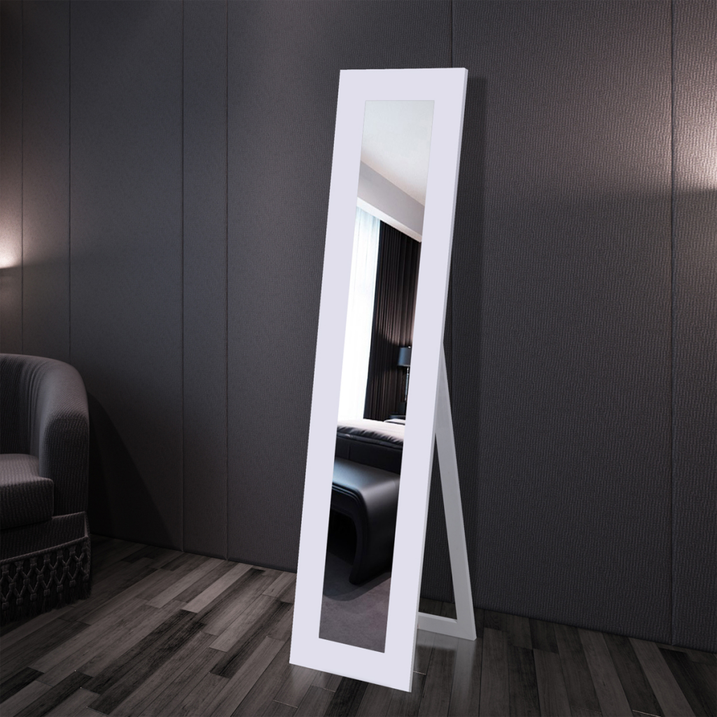 Dum a bydleni voln stoj c zrcadlo b l for Miroir blanc sur pied